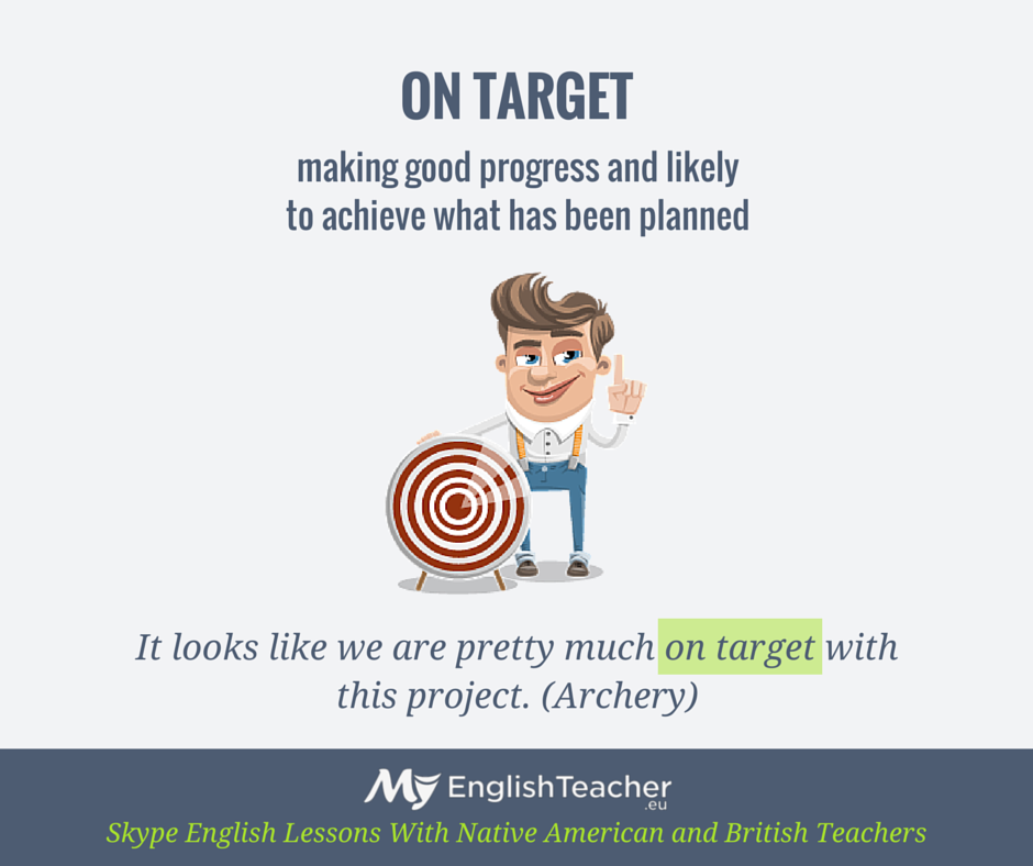 ON TARGET (english phrase)