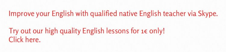 native English teacher Skype