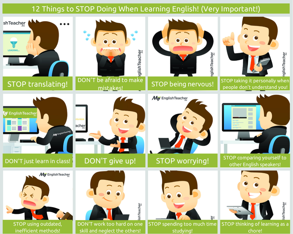 12 to Stop Doing When Learning English