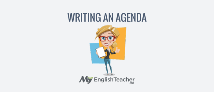 writing an agenda - business english phrases for meetings