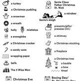 christmas vocabulary pictures