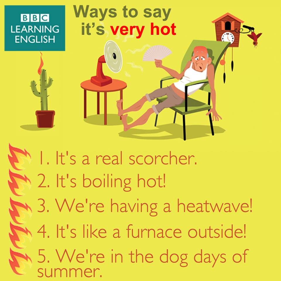 Other ways to say it 39 s hot outside blog for Bureau in english