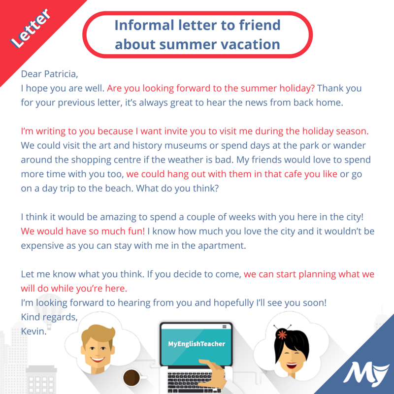 Write a letter to a friend