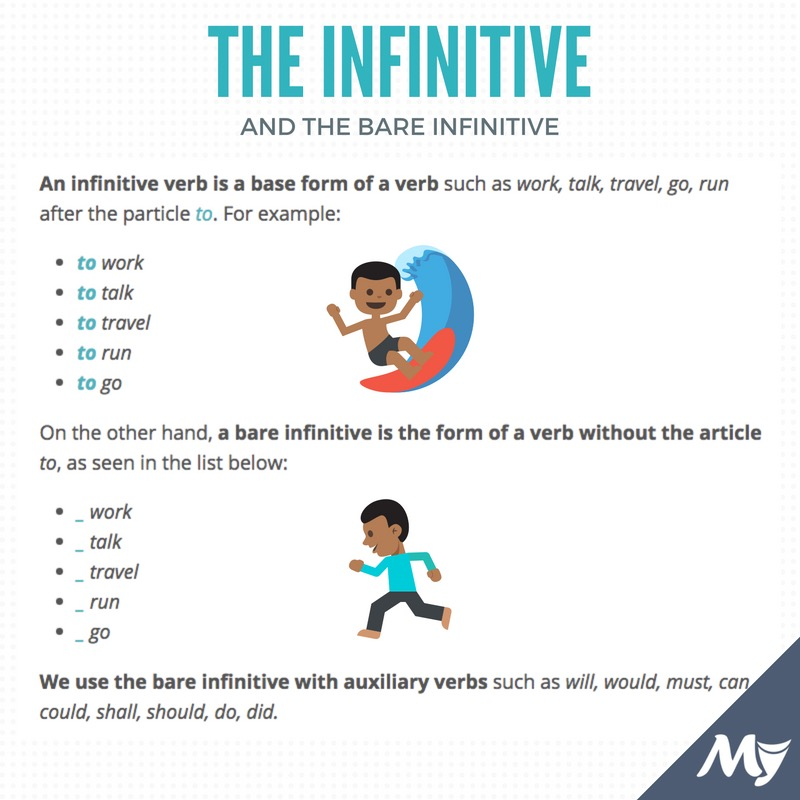 infinitive and bare infinitive