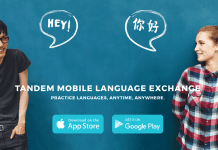 Tandem language exchange