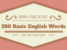 280 Basic English Words Logo