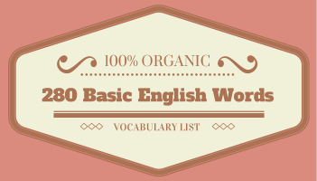 Common Noun List: 280 Basic English Vocabulary Words with