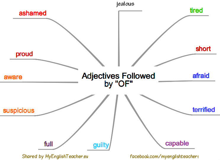 adjectives followed by of