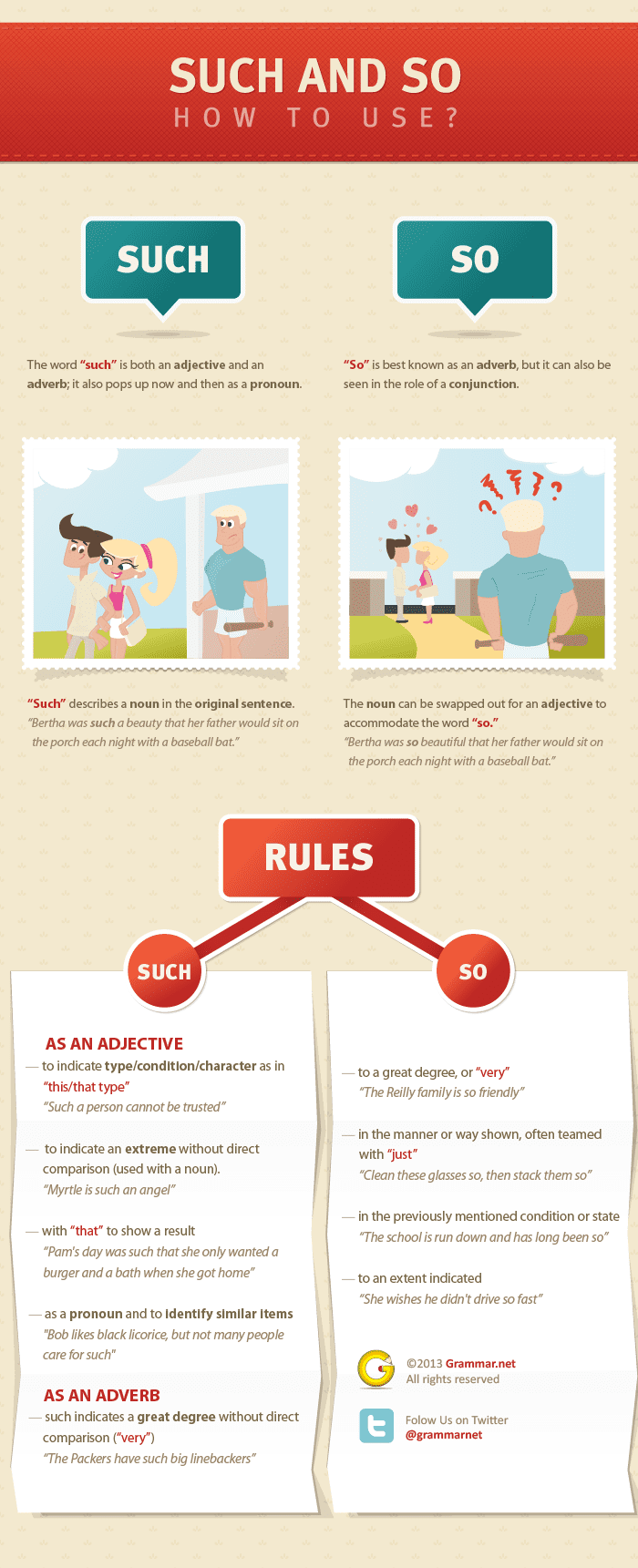 so vs such rules, explanation and examples