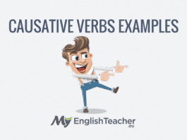 CAUSATIVE VERBS EXAMPLES