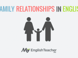 family relationships in english