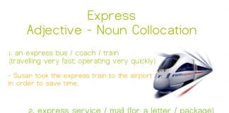express adjective - noun collocations
