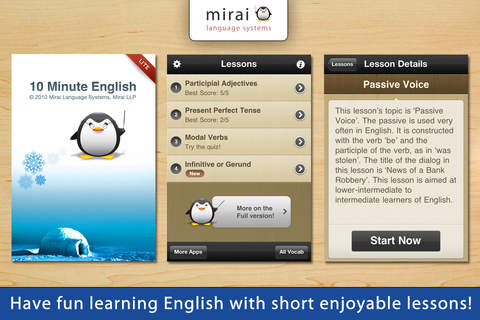 10 Minute English iphone app