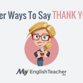 other ways to say thank you