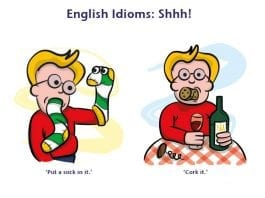 idioms for keeping quiet