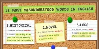 Most misunderstood words in English