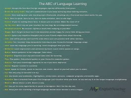 the abc of language learning