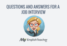 Questions and asnwers for a job interview
