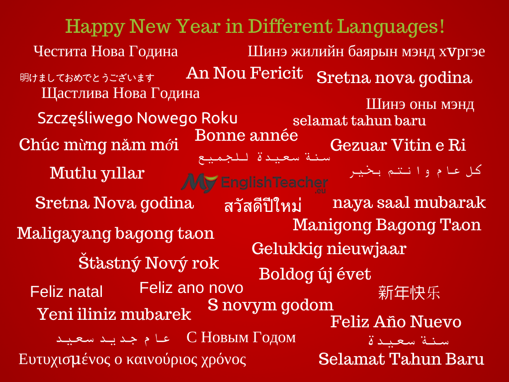 happy new year in different languages  happy new year in different languages