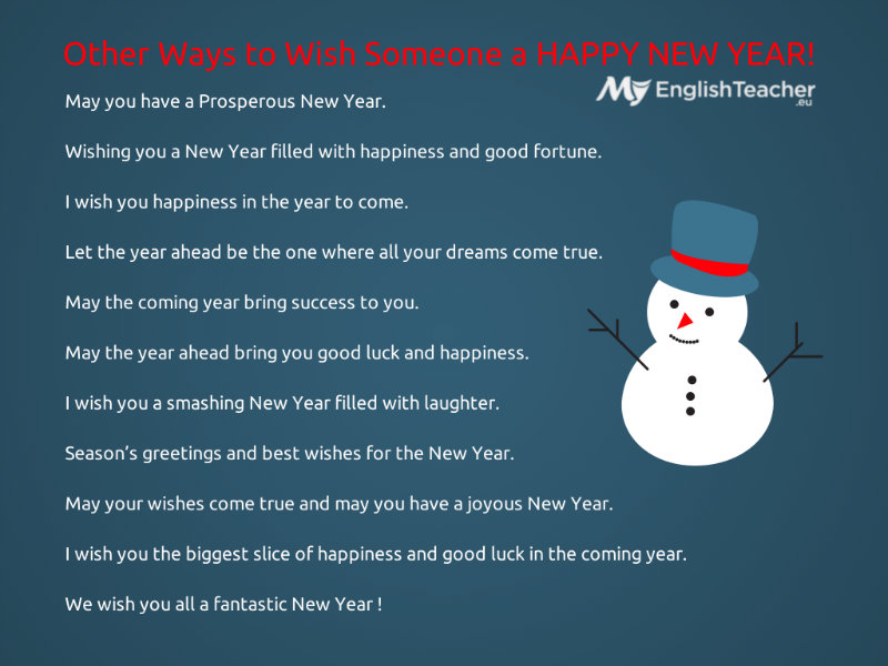 Other Ways to Wish a Happy New Year