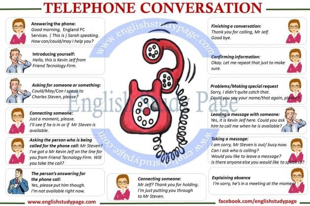 business phone conversation