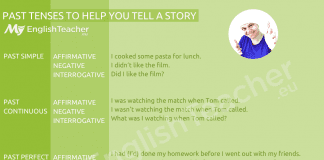 PAST TENSES TO HELP YOU TELL A STORY