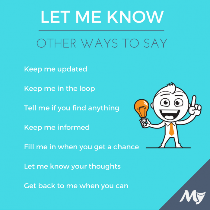 ways-to-say-let-me-know