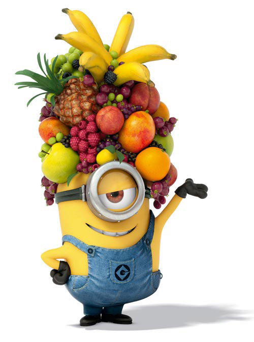 minion with banana hat