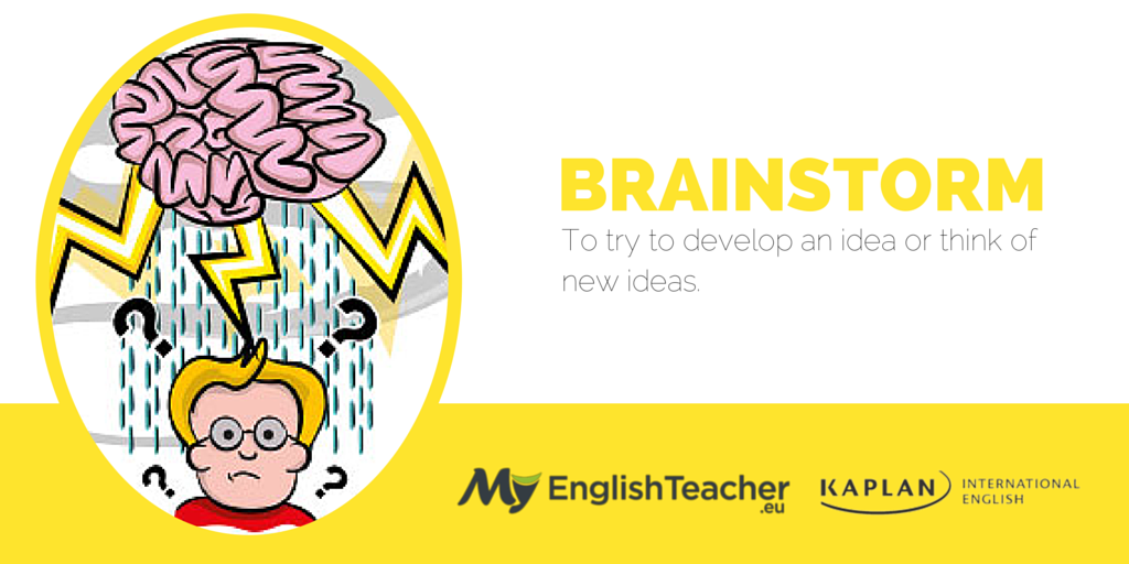 brainstorm english idiom