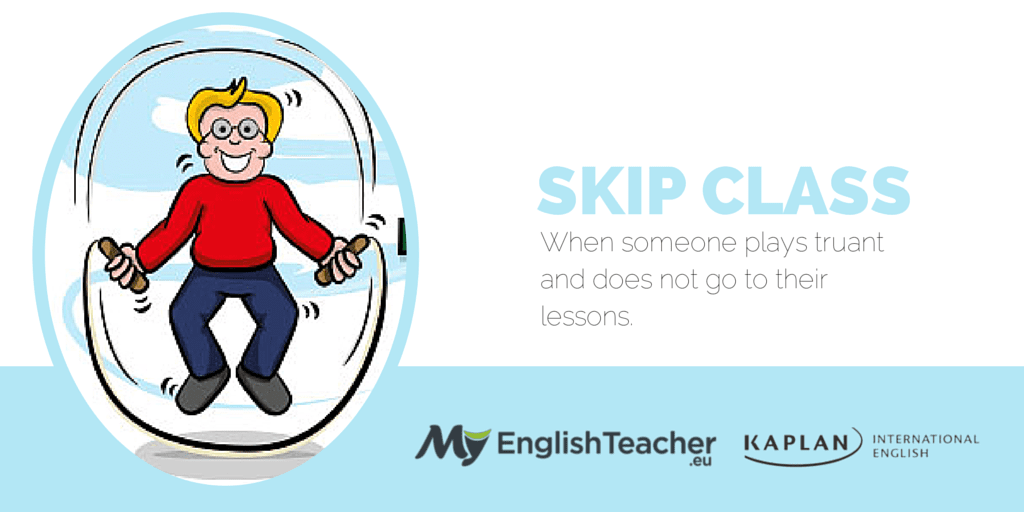 skip out meaning in english