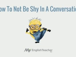 How to not be shy in a conversation