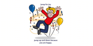 jump for joy idiom