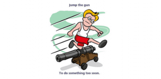 jump the gun idiom