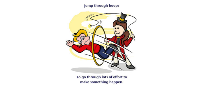 jump through hoops idiom