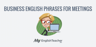 business english phrases for meetings