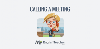 calling a meeting - business english phrases for meetings