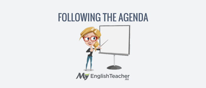 following the agenda - business english phrases for meetings
