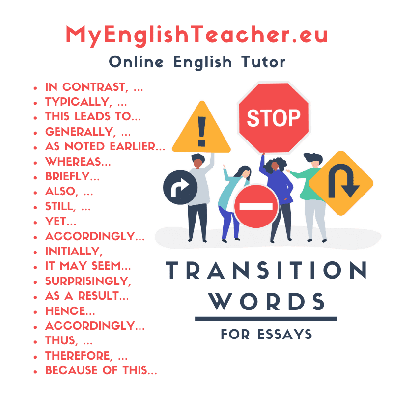 Transition Words for Essays