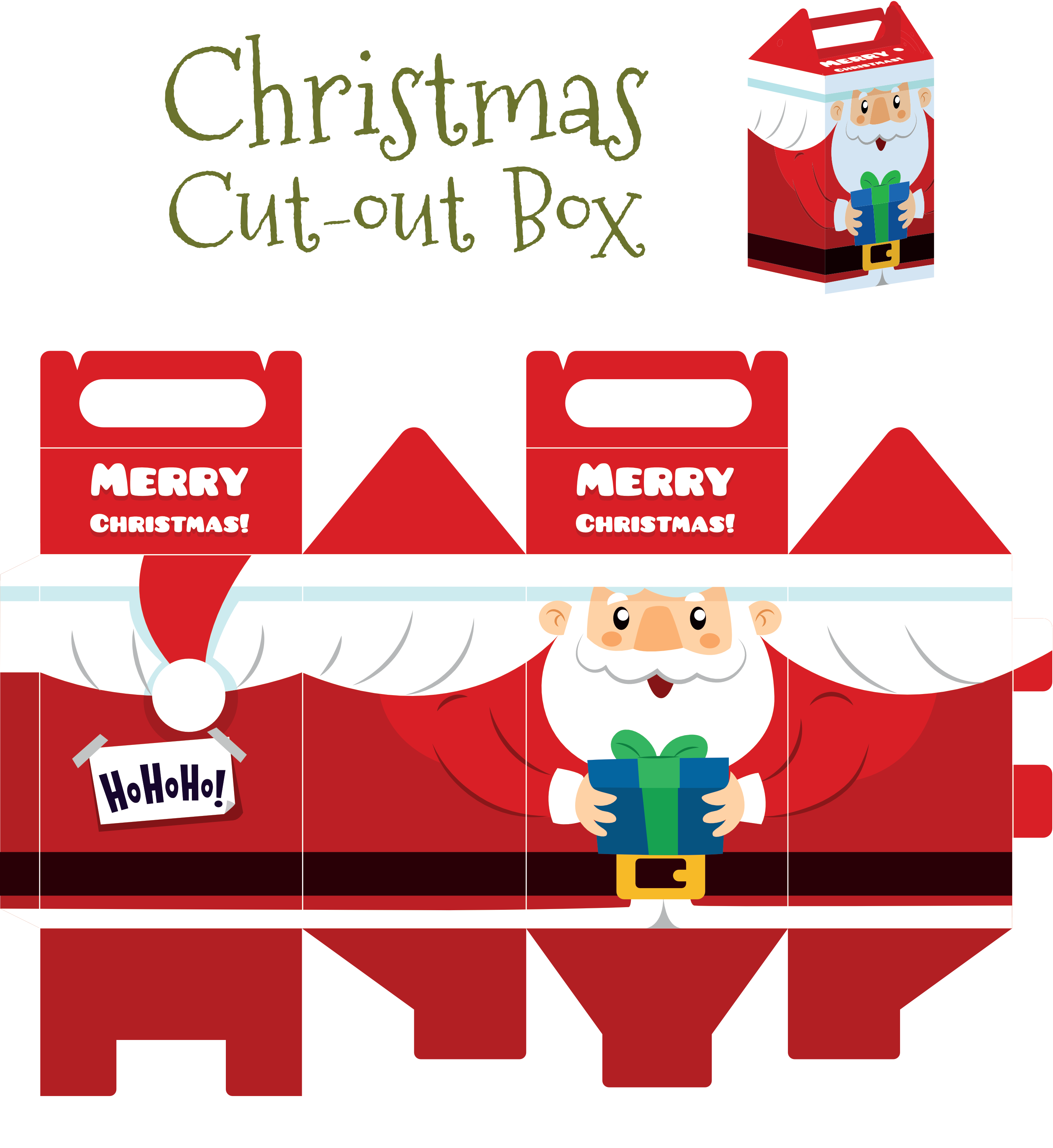 Santa Cut Out Box