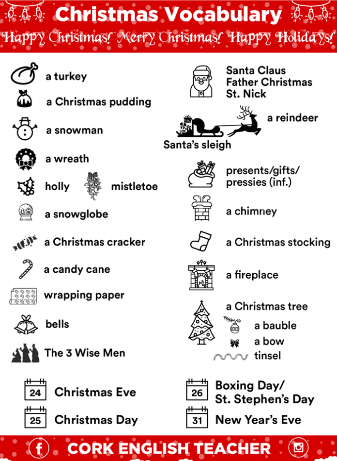 Christmas Vocabulary Words In Picture Myenglishteacher Eu Blog Happy holiday happy holiday may the calendar keep bringing happy holidays to you to you happy holiday happy holiday happy holiday. christmas vocabulary words in picture