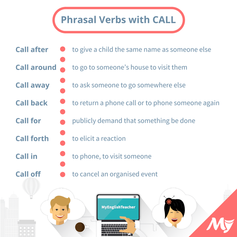 phrasal verbs with call