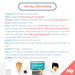 Having a Bath Dialog