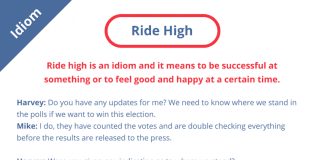 Ride High idiom