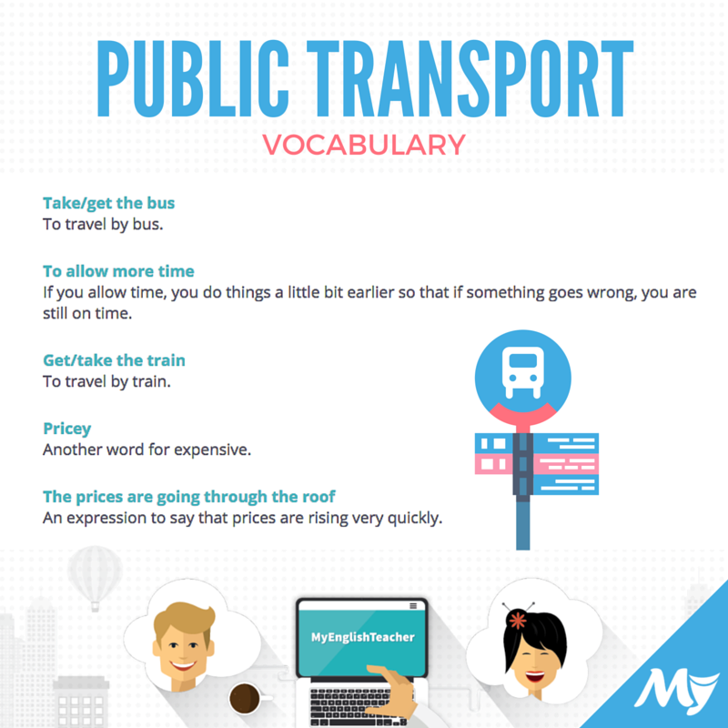 vocabulary related to public transport