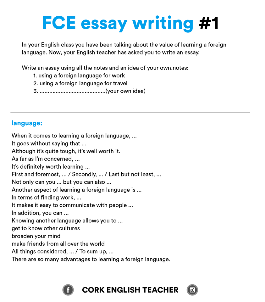 essay language english