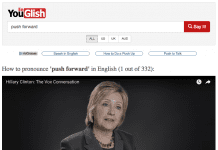 push forward in Hilary Clinton's speech