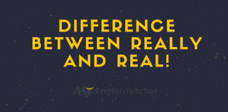 Difference Between Really and Real!