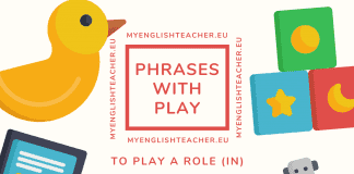 idioms with play
