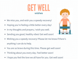 Get Well Wishes  20 ideas for what to write in a get well