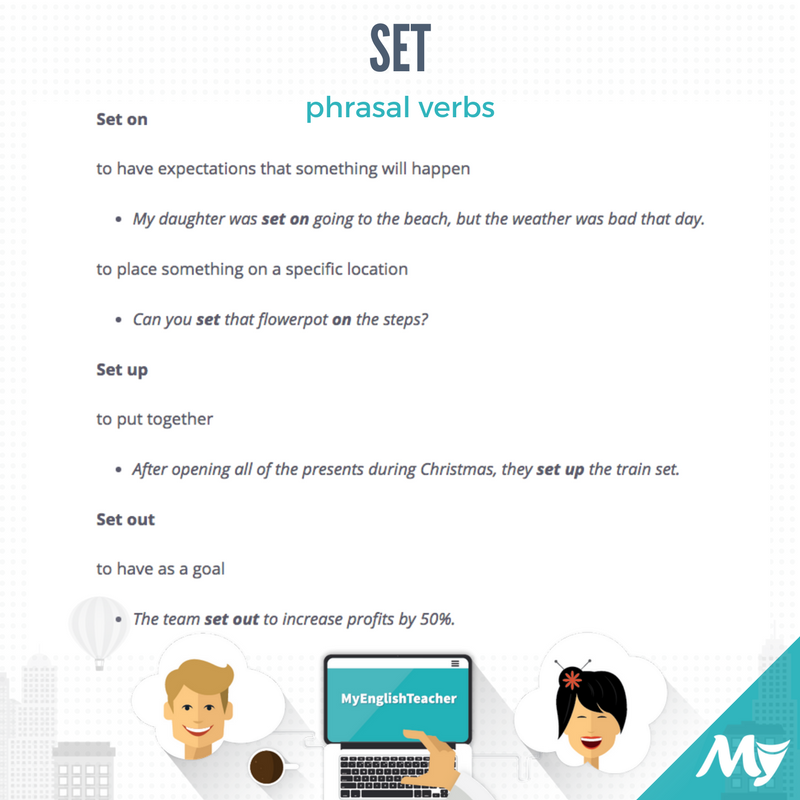 phrasal verbs with set